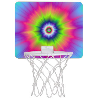 Explosion in Blue Green and Pink Mini Basketball Hoop