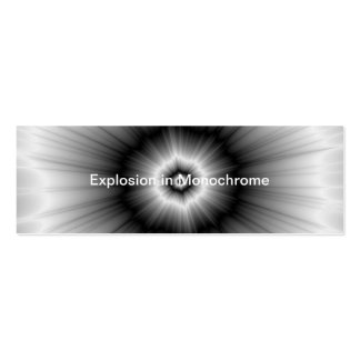 Explosion in Monochrome Pack Of Skinny Business Cards