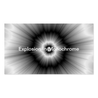 Explosion in Monochrome Pack Of Standard Business Cards