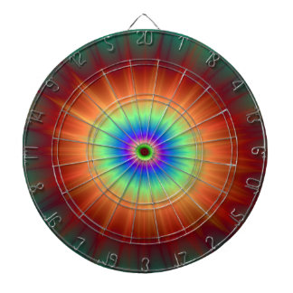 Explosion in Orange Green and Blue Dartboard
