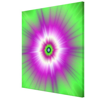 Explosion in Purple and Green Canvas Print