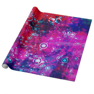 Explosion of Color Circle Abstract Wrapping Paper