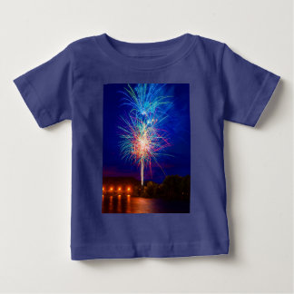 Explosion of colors in fireworks baby T-Shirt