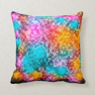 Explosion of colors in space cushion