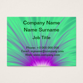 Explosion of Pink on Green Chubby Business Card