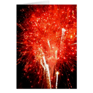 Explosion Red Greeting Card