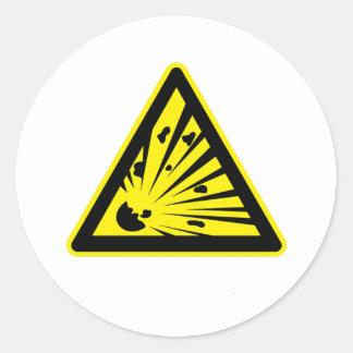 Explosion Risk Round Sticker