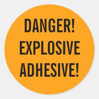 Explosive Adhesive Round Stickers