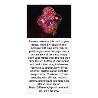 Explosive Fireworks Celebration Customized Photo Card