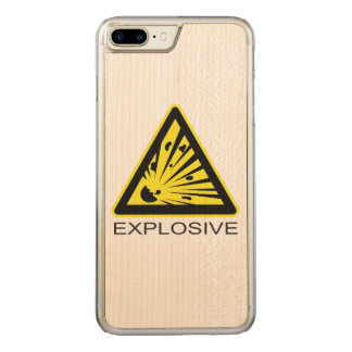 Explosive Hazard Sign Carved iPhone 8 Plus/7 Plus Case