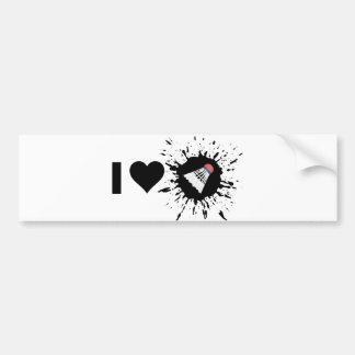 Explosive I Love Badminton Bumper Sticker