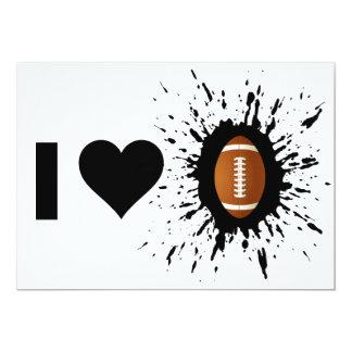 Explosive I Love Football 13 Cm X 18 Cm Invitation Card