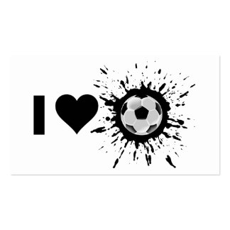 Explosive I Love Soccer Business Card Templates