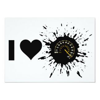 Explosive I Love Speed 1 13 Cm X 18 Cm Invitation Card