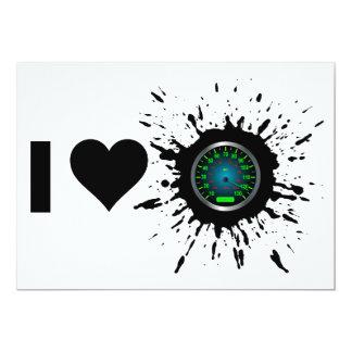 Explosive I Love Speed 2 13 Cm X 18 Cm Invitation Card