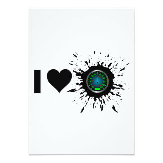 Explosive I Love Speed 2 13 Cm X 18 Cm Invitation Card