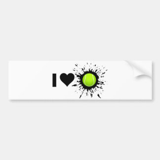 Explosive I Love Tennis Bumper Sticker