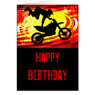 Explosive Motocross Jump Greeting Card
