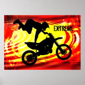 Explosive Motocross Jump Print