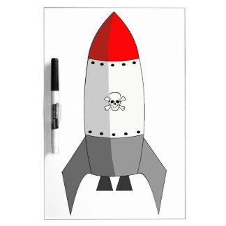 Explosive Rocket Dry Erase Board