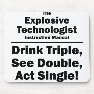 explosive technologist mouse pad