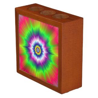 Explosive Tie-Dye Desk Organizer