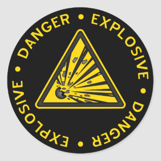 Explosive Warning Sticker