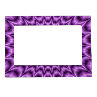 Explosive Web in Purple Magnetic Picture Frame