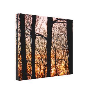 Explosive Winter Sunset Canvas Print