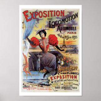 Expo Paris 1895 AutomobileVintage Art Print Poster