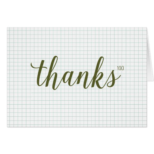 Exponential Thanks Thank You Card // Green