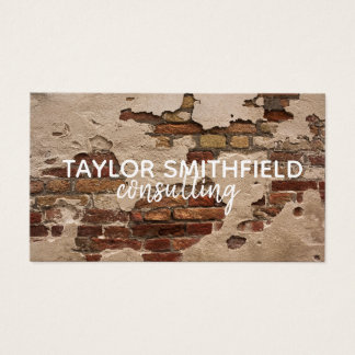 exposed brick vintage rustic stone business card