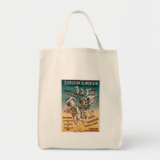 Exposition Alimentaire Vintage Food Ad Art Bag