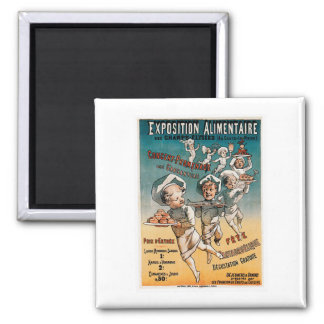Exposition Alimentaire Vintage Food Ad Art Square Magnet