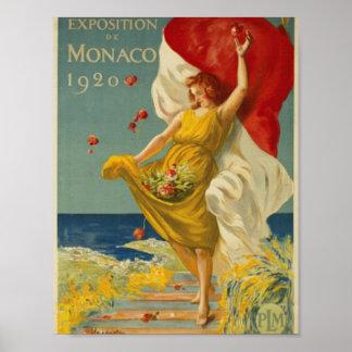 Exposition of Monaco 1920 Poster