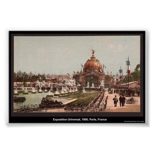 Exposition Universal, 1900, Paris, France Poster