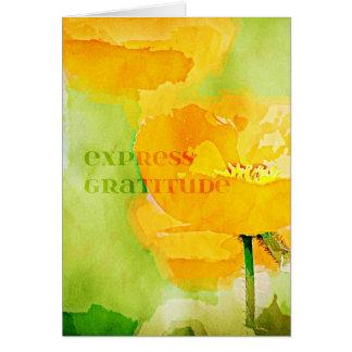 Express Gratitude Orange Poppy Card