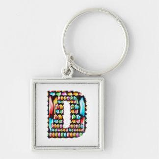 Express Personality n Identity - Alpha D DD DDD Keychain
