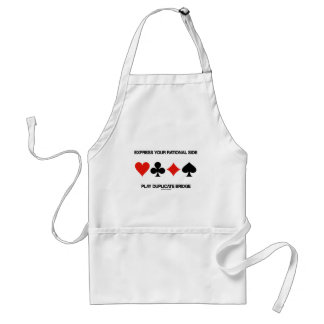 Express Your Rational Side Play Duplicate Bridge Standard Apron