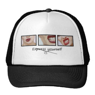 Express yourself mesh hats