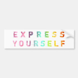 Express Yourself - Painterly Bumper Stickers