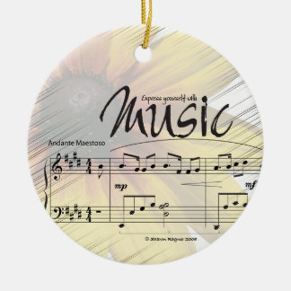 Express Yourself With Music Ornament