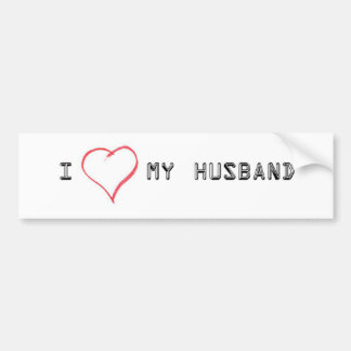 Expressing love for my husband bumper sticker
