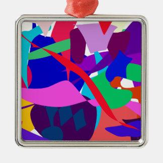 Expression 3 Silver-Colored square decoration