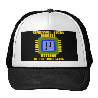 Expression Begins At The Micro-Level Microprocess Mesh Hat