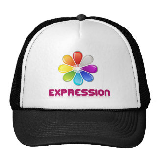 Expression color wheel trucker hats
