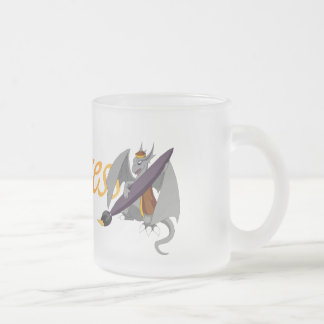 """""""Expression"""" Dragon & Paintbrush Frosted Mug"""