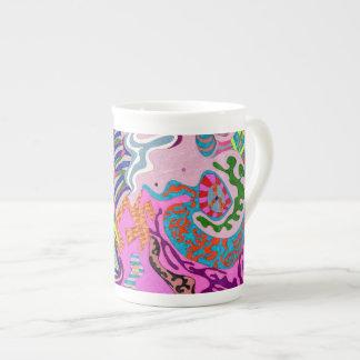 """""""Expression Fantastic"""" Abstract Art Bone China Mug"""