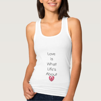 "Expression_LOVE_Life_Slim-Fit-Woman's-Tank-Top"" Tank Top"
