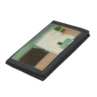 Expressionist Painting with Heavy Brush Strokes Trifold Wallet